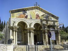 The Church of All Nations or Basilica of the Agony, is a Roman Catholic chu.. Stock Photos