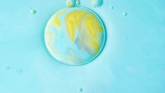 Oil Surface Multicolored Background Liquid Paint 4K Slow Motion Splashing Stock Footage