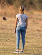 Girl ass outdoors Stock Photos