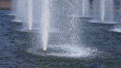 Water jets of a fountain Stock Footage