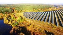 Solar power plant. Stock Footage