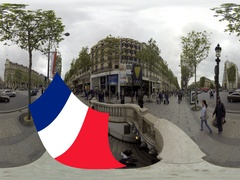 LIDO Night Club along Avenue des Champs Elysees 360 video VR Stock Footage