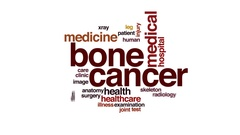 Bone cancer animated word cloud, text design animation. Stock Footage