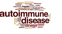 Autoimmune disease animated word cloud, text design animation. Stock Footage