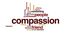 Compassion animated word cloud, text design animation. Stock Footage
