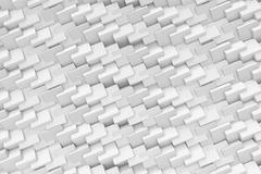 Rendering abstract texture made of repeated faceted cubes on white background Stock Illustration