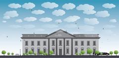 White House Washington DC Stock Illustration