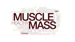 Muscle mass animated word cloud, text design animation. Kinetic typography. Stock Footage