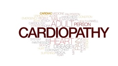Cardiopathy animated word cloud, text design animation. Kinetic typography. Stock Footage