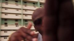 Crime With Gang Men Fighting Man Hitting Drug Dealer Stock Footage