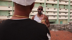 Gang Members Meeting For Selling and Buying Drugs And Narcotics Stock Footage