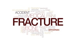Fracture animated word cloud, text design animation. Kinetic typography. Stock Footage