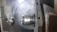 Industry process of metal working and machine manufacturing - robotic drilling Stock Footage