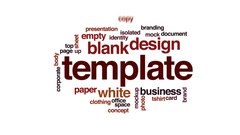 Template animated word cloud, text design animation. Stock Footage