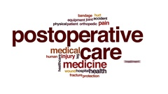 Postoperative care animated word cloud, text design animation. Stock Footage