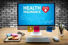 HEALTH INSURANCE CLAIM FORM , Application Concept  health care Stock Photos