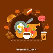 Fast Food Business Lunch Menu Poster Stock Illustration