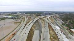 Aerial view of 610 Loop Freeway in Houston, Texas. Arkistovideo
