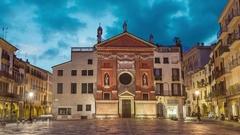 Piazza dei Signori in Padua Stock Footage