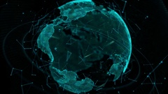 Glowing Earth globe. Stock Footage