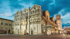 Cathedral of Saint George the Martyr, Ferrara Stock Footage
