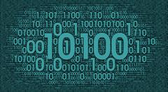 Digital binary background, information cloud PSD Template