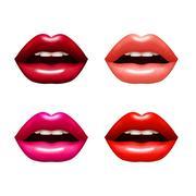 Woman Lips Set Piirros
