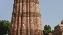 Qutub Minar Tower in New Delhi, India Stock Footage