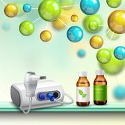 Molecules Health Improvement Composition Stock Illustration