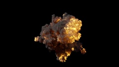 Realistic fire blasts explosion with smoke in slow motion with alpha channel Stock Footage