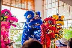 Lunar new year Asian dragon coming vietnamese new year Stock Photos