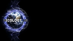 ECOLOGY Text Animation and Earth Stock Footage