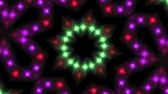 Fast Bright Light Disco Mosaic Kaleidoscope  -    Alpha Channel Stock Footage