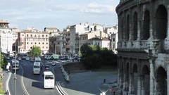 Coliseum, Rome, Italy, Time Lapse, 4k Stock Footage