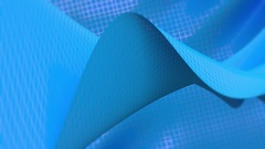 Background of mesh waves blue with soft edges ntsc Stock Footage