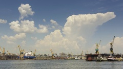 Time lapse with seaport of Constanta, Romania Stock Footage