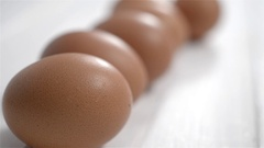 Half a dozen brown eggs Stock Footage