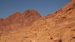 Lifeless mountains against the sky Stock Footage