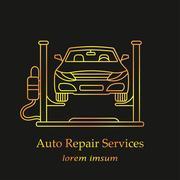 Auto Repair Services Stock Illustration