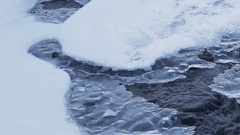 Stream and ice that melts Stock Footage