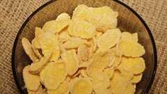 Serving cornflakes, rotating in a circle Stock Footage