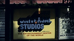 Universal City 1982: Universal Studios Hollywood sign Stock Footage