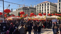 Crowd In Chinese New Year Celebration Stock Footage