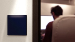 Interior Corporate Office Sign from Hallway   Blank Sign Stock Footage