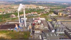 Combined heat and power plant. Stock Footage