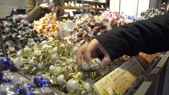 Lindt chocolates counter Stock Footage