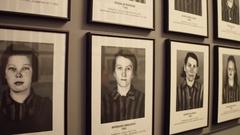 OSWIENCIM, POLAND - Portraits of Auschwitz Birkenau female Arkistovideo