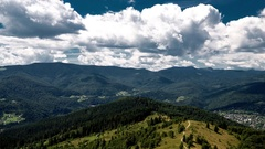 Mountain landscape timelapse in Carpathian Stock Footage