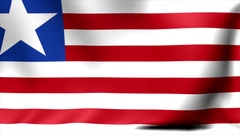 Liberia Flag. Background Seamless Looping Animation. 4K High Definition Video Stock Footage