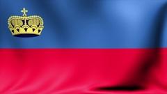 Liechtenstein Flag. Background Seamless Looping Animation. 4K High Definition Stock Footage